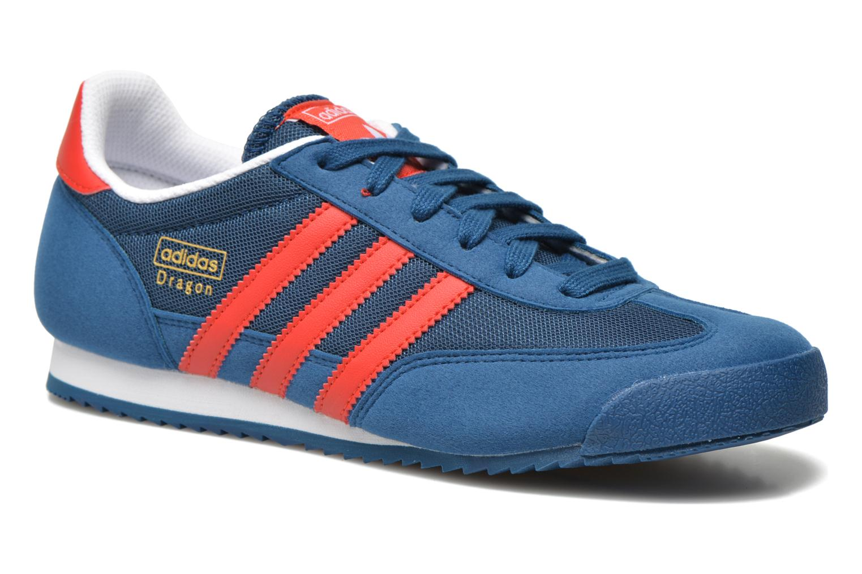 Sneakers Adidas Originals Dragon J Blauw detail