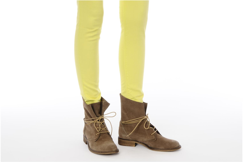 Bottines et boots SPM Oklahoma Bleu vue bas / vue portée sac