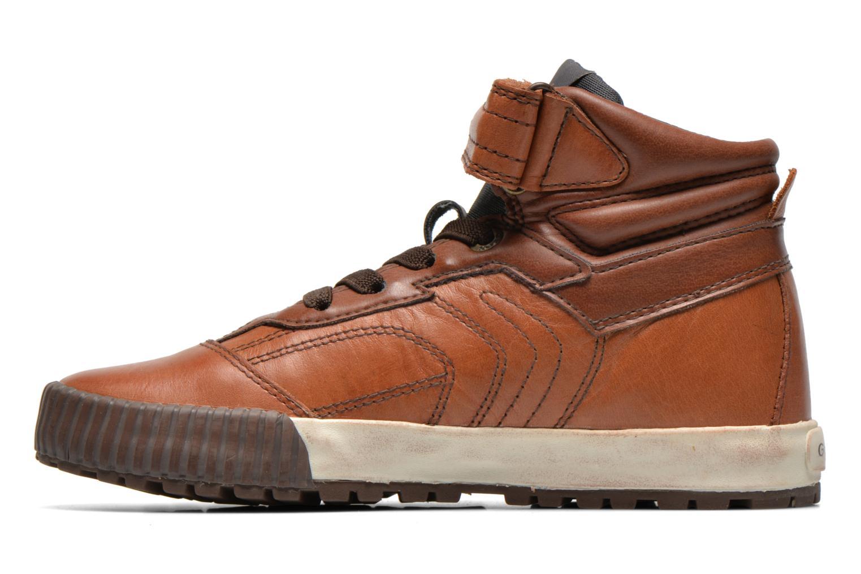 Sneaker Geox J MYTHOS D braun ansicht von vorne