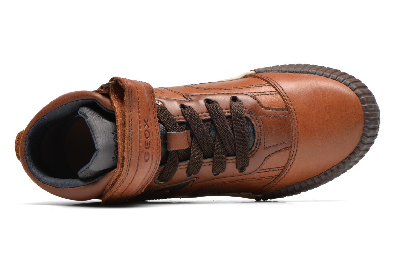Sneaker Geox J MYTHOS D braun ansicht von links
