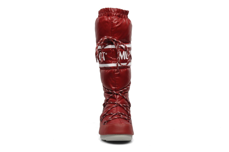 Chaussures de sport Moon Boot Duvet Rouge vue portées chaussures