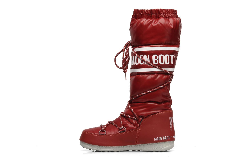 Chaussures de sport Moon Boot Duvet Rouge vue face