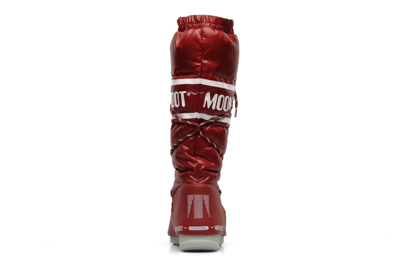 Chaussures de sport Moon Boot Duvet Rouge vue droite
