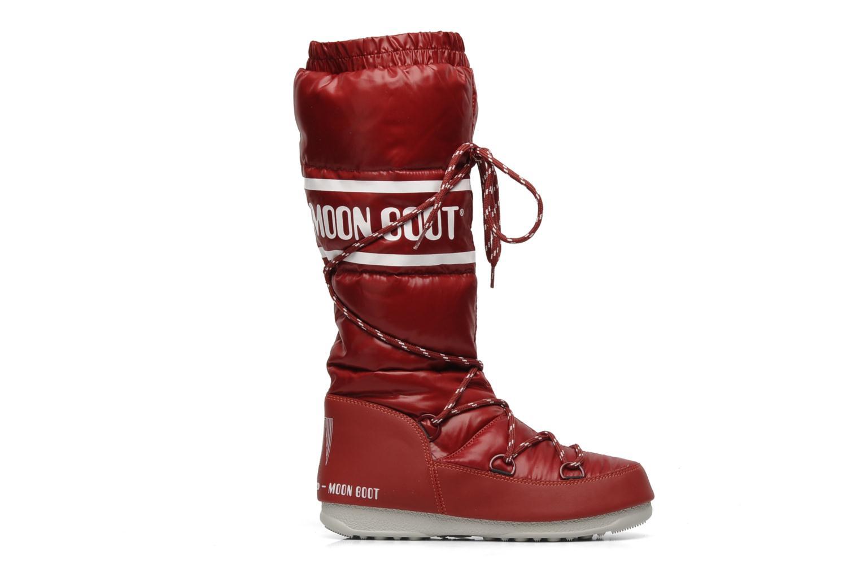 Chaussures de sport Moon Boot Duvet Rouge vue derrière