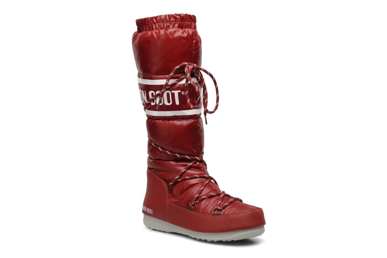 Chaussures de sport Moon Boot Duvet Rouge vue détail/paire