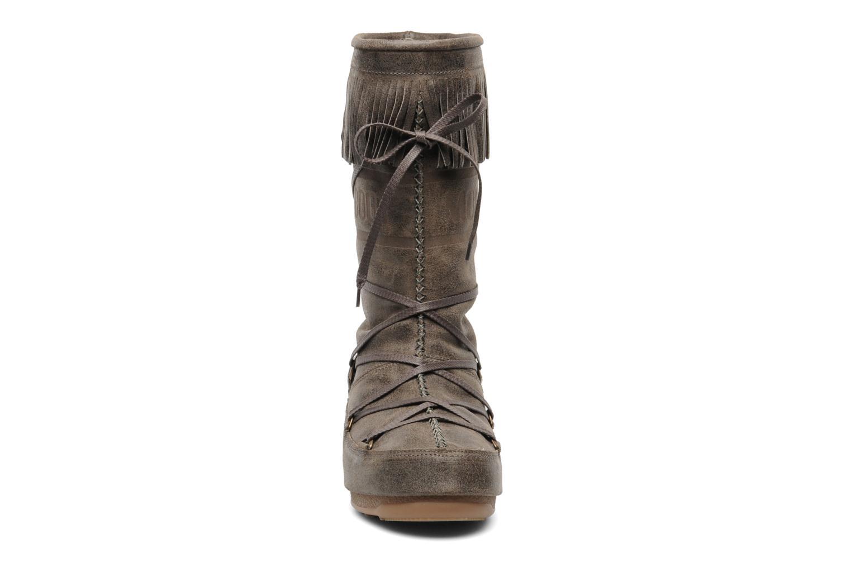 Stiefel Moon Boot Dakota braun schuhe getragen