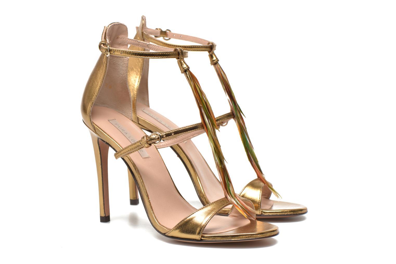 Sandales et nu-pieds Pura Lopez Valencia Or et bronze vue 3/4