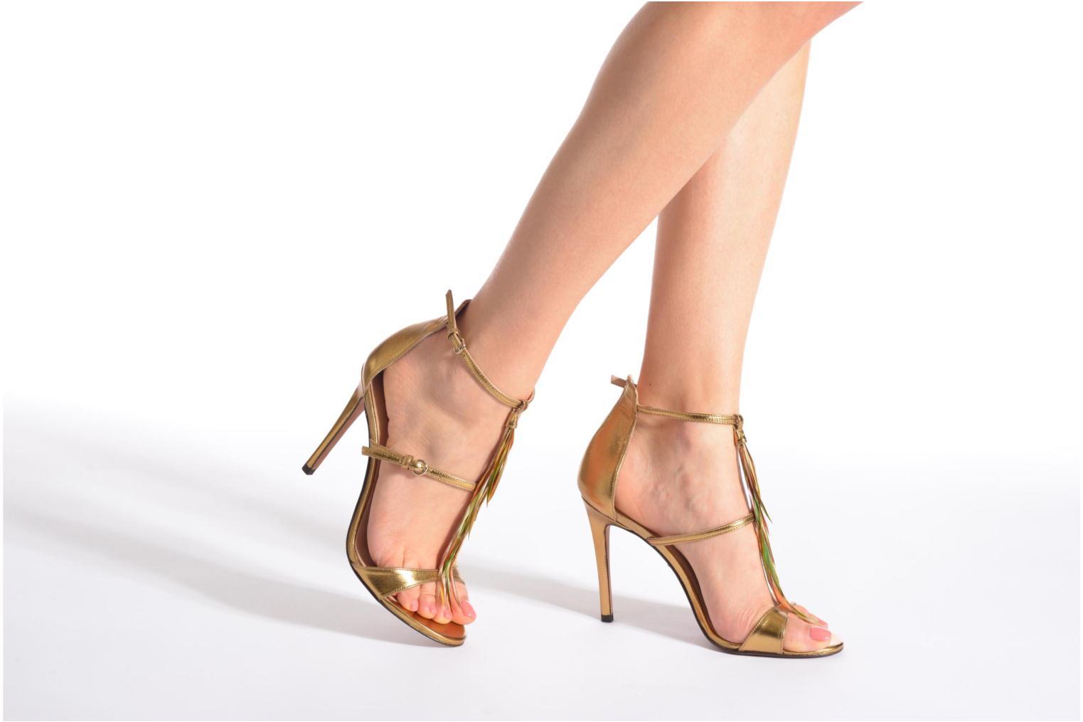 Sandales et nu-pieds Pura Lopez Valencia Or et bronze vue bas / vue portée sac