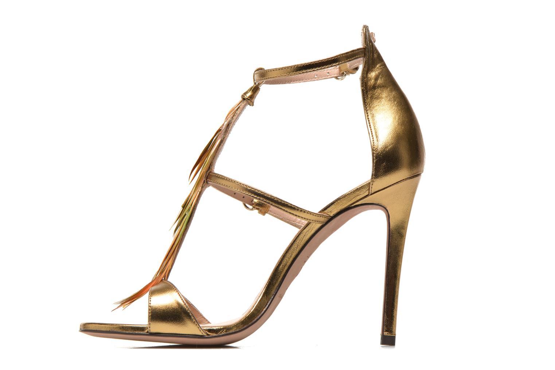 Sandales et nu-pieds Pura Lopez Valencia Or et bronze vue face