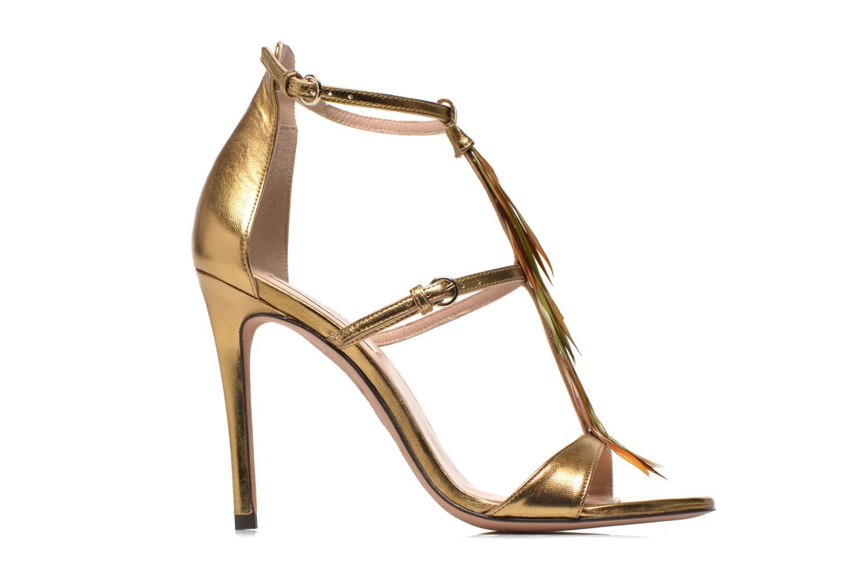 Sandales et nu-pieds Pura Lopez Valencia Or et bronze vue derrière