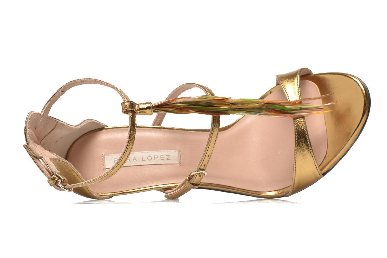 Sandales et nu-pieds Pura Lopez Valencia Or et bronze vue gauche