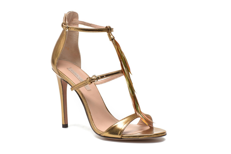 Sandales et nu-pieds Pura Lopez Valencia Or et bronze vue détail/paire