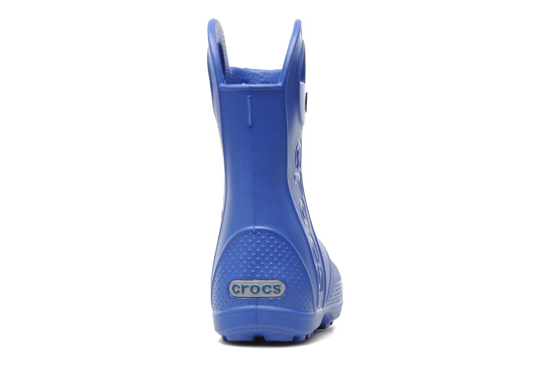 Bottes Crocs Handle it Rain Boot kids Bleu vue droite