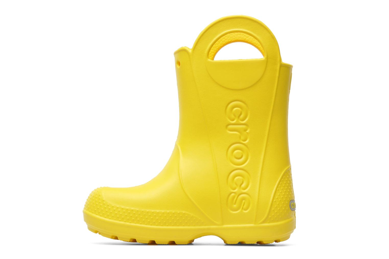 Bottes Crocs Handle it Rain Boot kids Jaune vue face