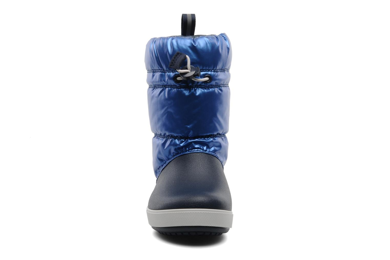 Stiefel Crocs Crocband Iridescent Gust Boot Kids blau schuhe getragen