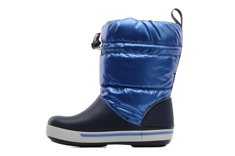 Bottes Crocs Crocband Iridescent Gust Boot Kids Bleu vue face