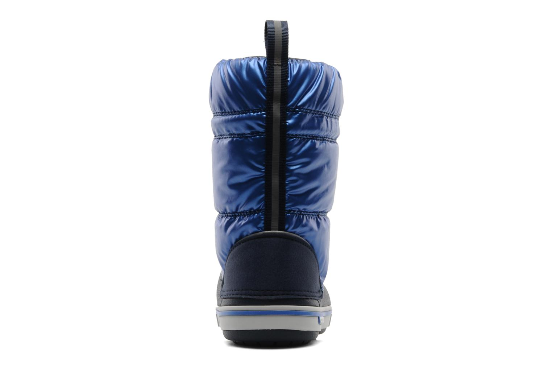 Bottes Crocs Crocband Iridescent Gust Boot Kids Bleu vue droite