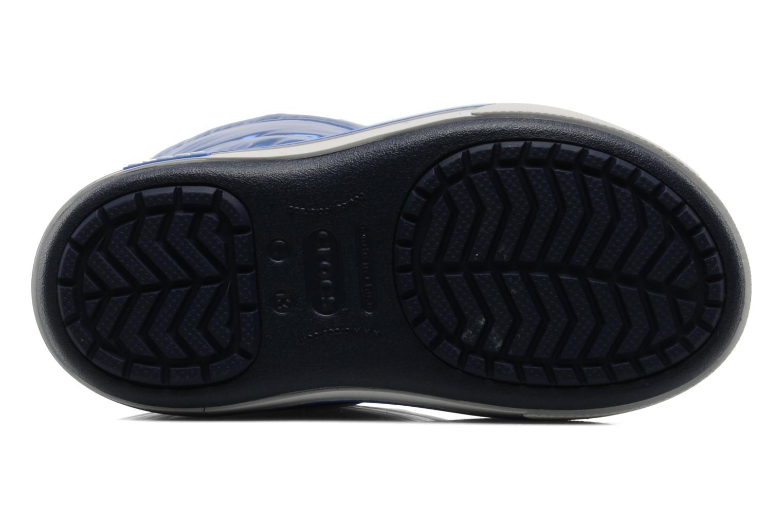 Bottes Crocs Crocband Iridescent Gust Boot Kids Bleu vue haut