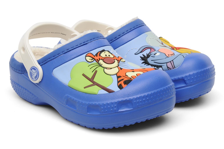 Sandales et nu-pieds Crocs Winnie The Pooh & Eeyore Lined Clog Bleu vue détail/paire