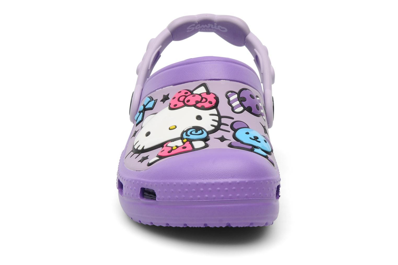 Sandalen Crocs Hello Kitty Candy Ribbons Clog lila schuhe getragen
