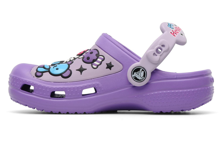 Sandalen Crocs Hello Kitty Candy Ribbons Clog lila ansicht von vorne