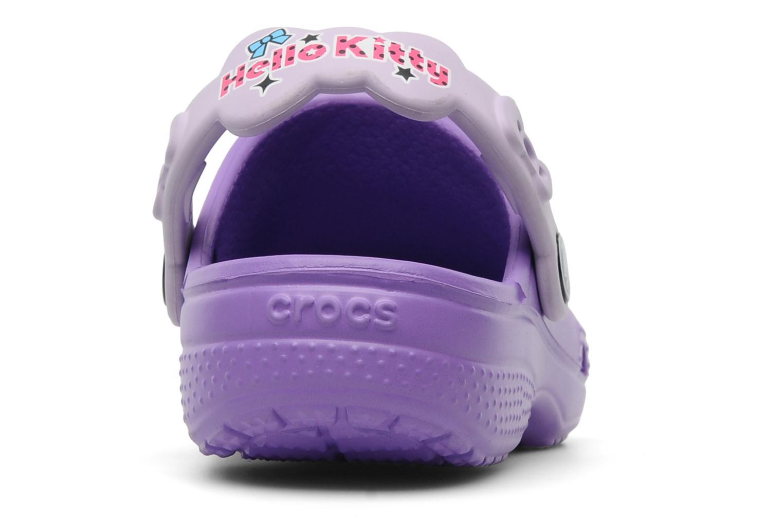 Sandalen Crocs Hello Kitty Candy Ribbons Clog lila ansicht von rechts