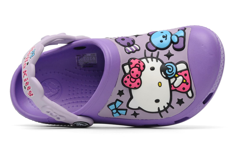Sandalen Crocs Hello Kitty Candy Ribbons Clog lila ansicht von links