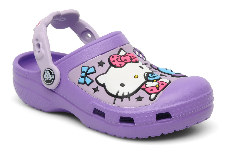 Sandalen Crocs Hello Kitty Candy Ribbons Clog lila detaillierte ansicht/modell