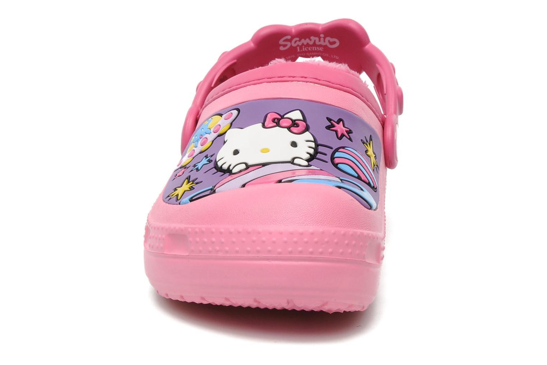 Sandales et nu-pieds Crocs Hello Kitty Space Adventure Lined Clog Rose vue portées chaussures