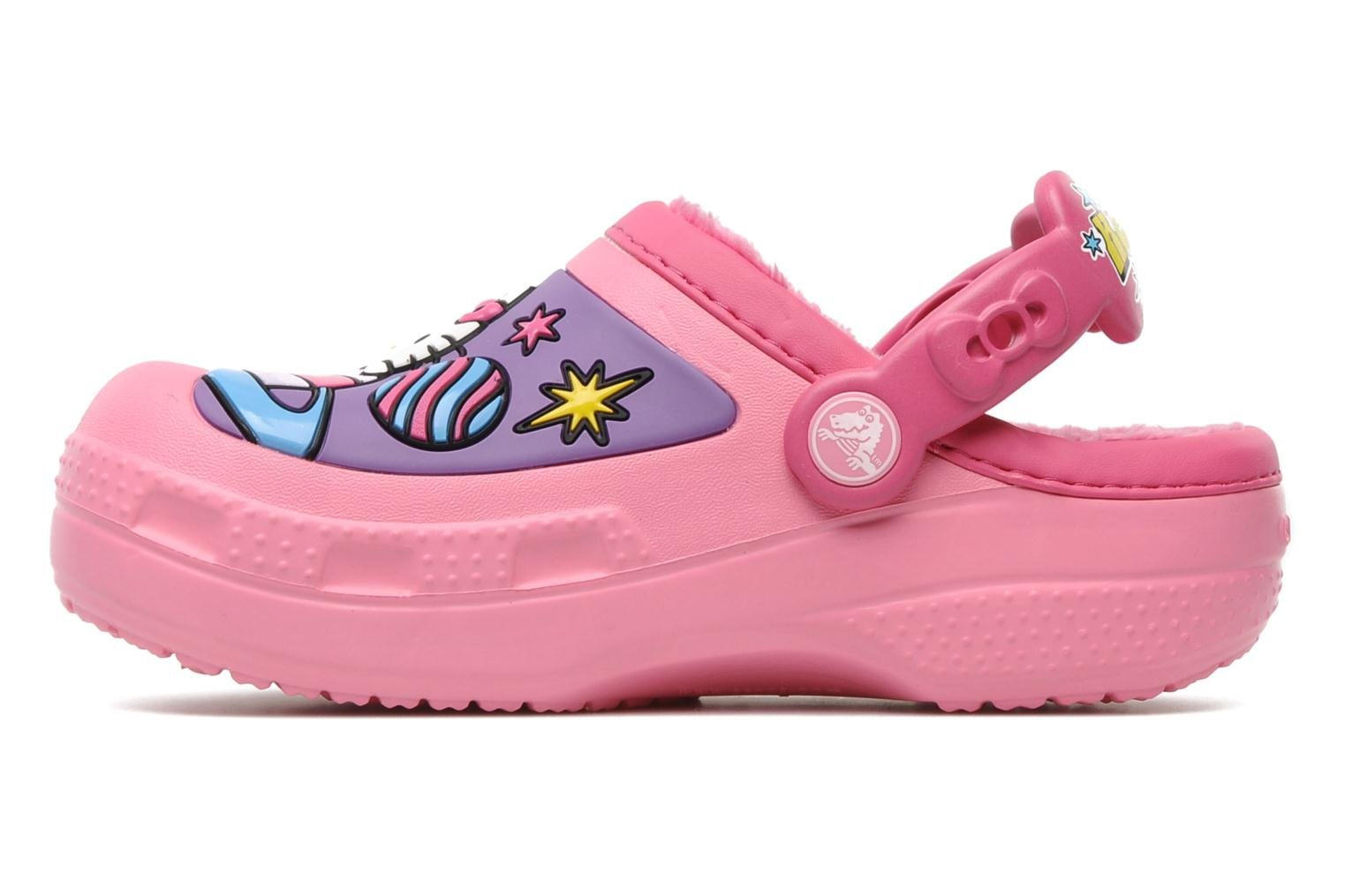 Sandales et nu-pieds Crocs Hello Kitty Space Adventure Lined Clog Rose vue face