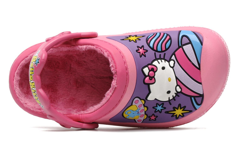 Sandales et nu-pieds Crocs Hello Kitty Space Adventure Lined Clog Rose vue gauche