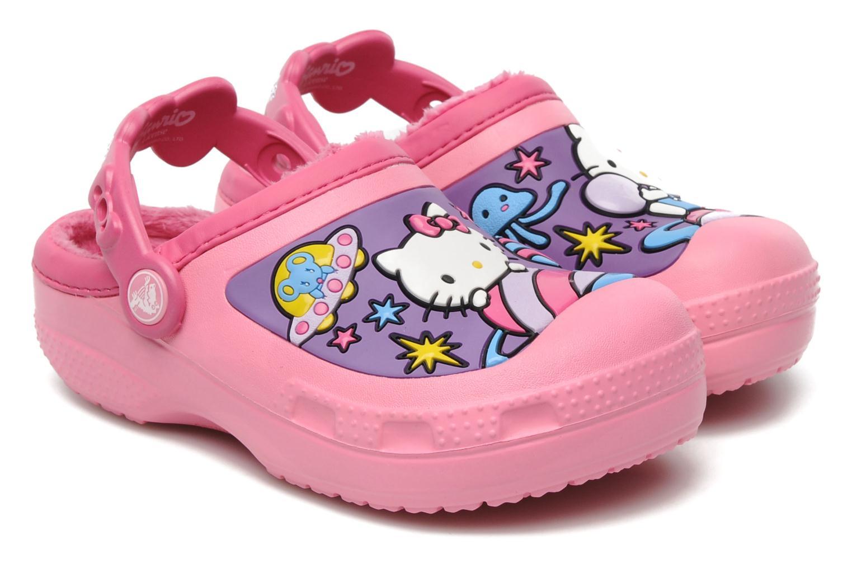 Sandales et nu-pieds Crocs Hello Kitty Space Adventure Lined Clog Rose vue détail/paire