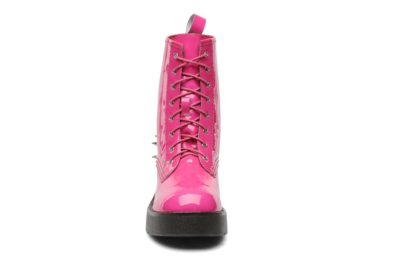 Stivaletti e tronchetti Jeffrey Campbell 8TH STREET Rosa modello indossato