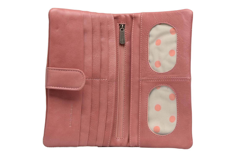 Kleine lederwaren Sabrina Nine Roze achterkant