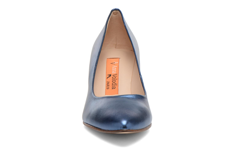 Escarpins Anna Volodia Ana Bleu vue portées chaussures