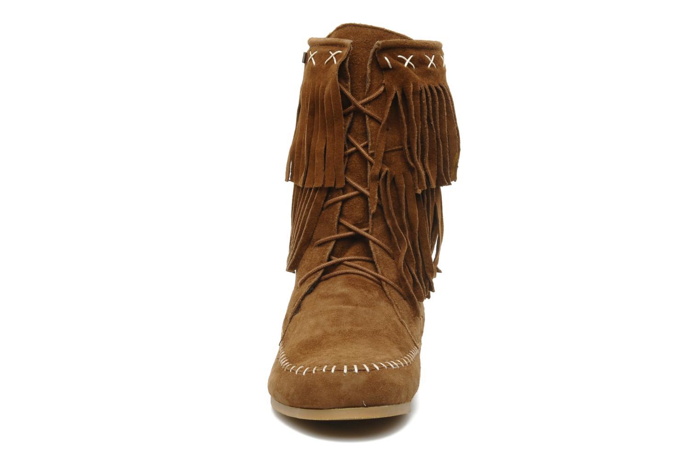 Bottines et boots Les Tropéziennes par M Belarbi Marah Marron vue portées chaussures