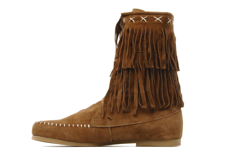 Bottines et boots Les Tropéziennes par M Belarbi Marah Marron vue face
