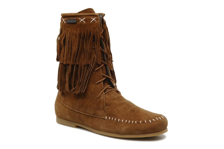Ankle boots Les Tropéziennes par M Belarbi Marah Brown detailed view/ Pair view