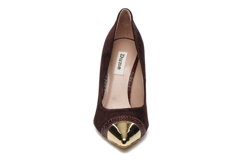 Escarpins Dune London BALMORAL Violet vue portées chaussures