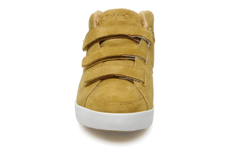 Sneaker Feiyue Feiyue Delta Mid Fur W gelb schuhe getragen