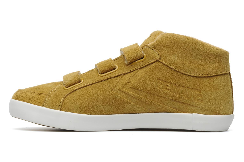 Sneaker Feiyue Feiyue Delta Mid Fur W gelb ansicht von vorne
