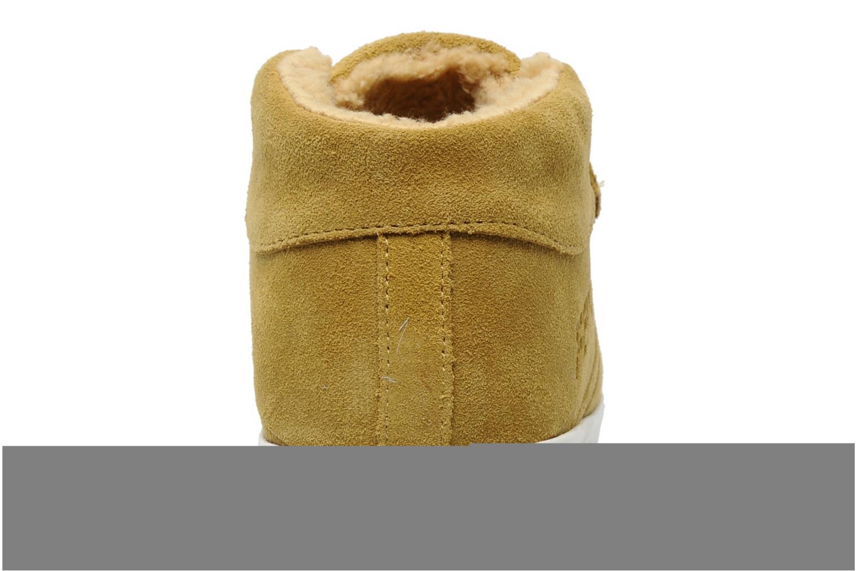 Sneaker Feiyue Feiyue Delta Mid Fur W gelb ansicht von rechts