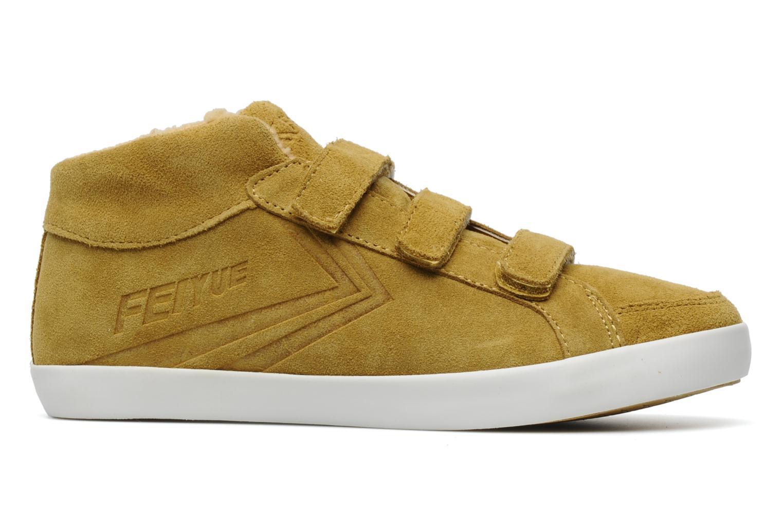 Sneaker Feiyue Feiyue Delta Mid Fur W gelb ansicht von hinten