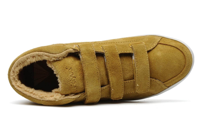 Sneaker Feiyue Feiyue Delta Mid Fur W gelb ansicht von links