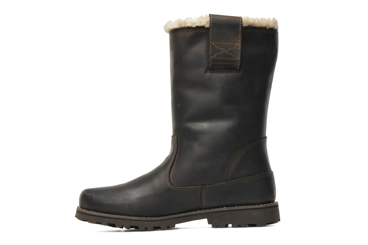 8 In Pull On WP Boot with Shearling Dark brown nubuck burnish