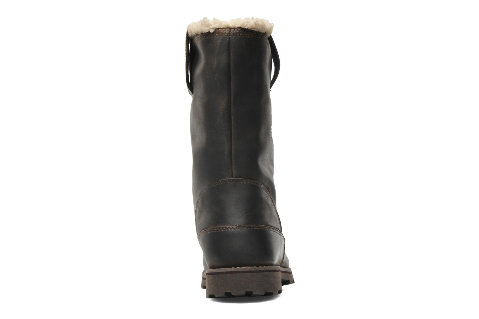 Bottes Timberland 8 In Pull On WP Boot with Shearling Marron vue droite