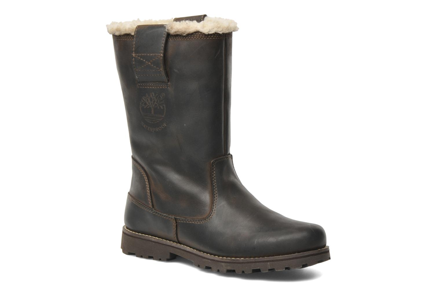Bottes Timberland 8 In Pull On WP Boot with Shearling Marron vue détail/paire