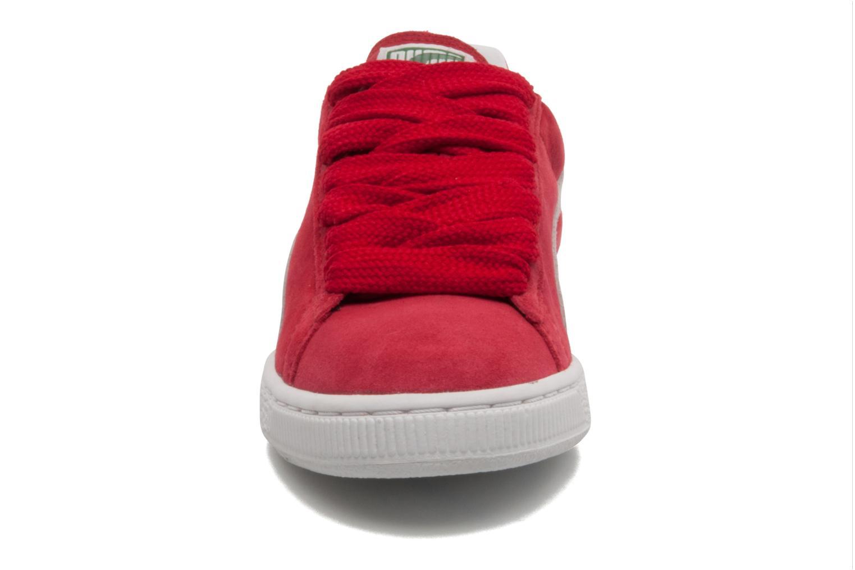 Baskets Puma Suede classic eco W Rouge vue portées chaussures