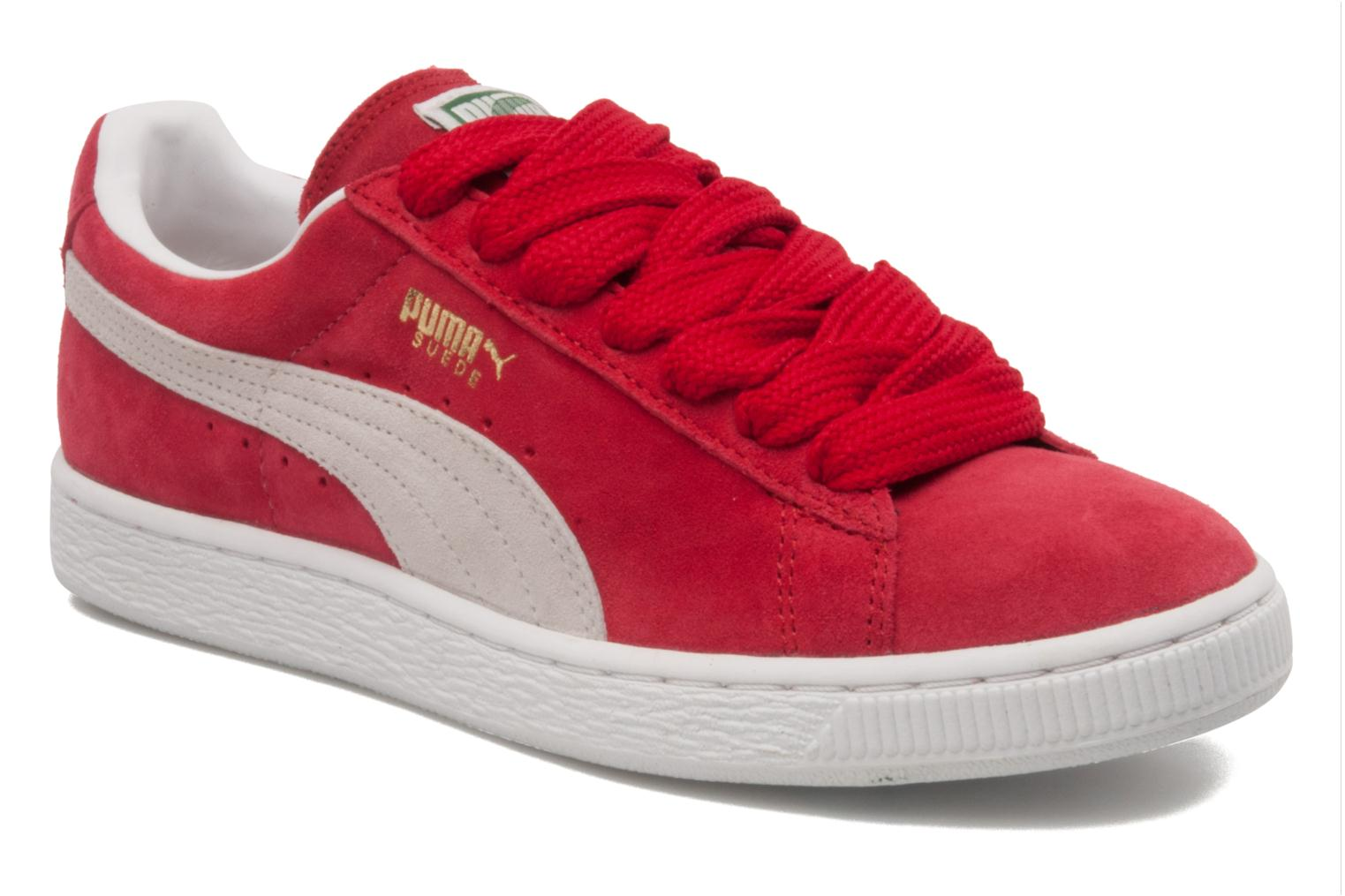 Trainers Puma Suede classic eco W Red detailed view/ Pair view