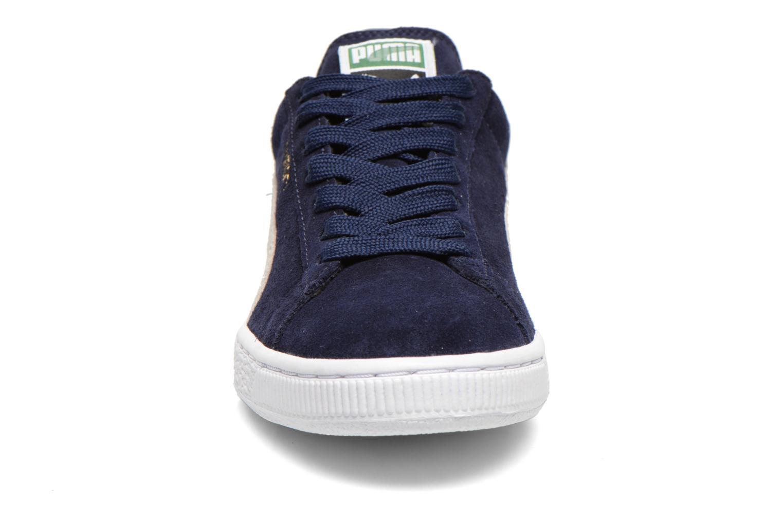 Sneakers Puma Suede classic eco W Azzurro modello indossato